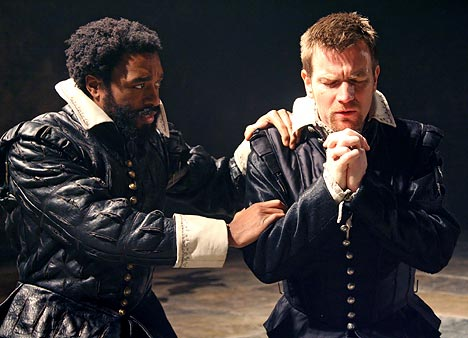 iago in othello The days when it was thought acceptable for a white actor to black up as othello are well behind us but lucian msamati makes theatrical history now in being the first black actor ever to play iago at the rsc.